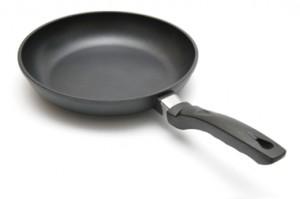 Maak geen gebruik van een teflon pan